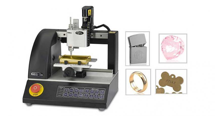 Engraving machine for jewelry