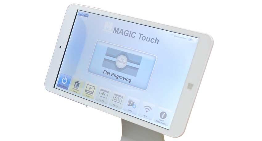 Tablet for engraving machine