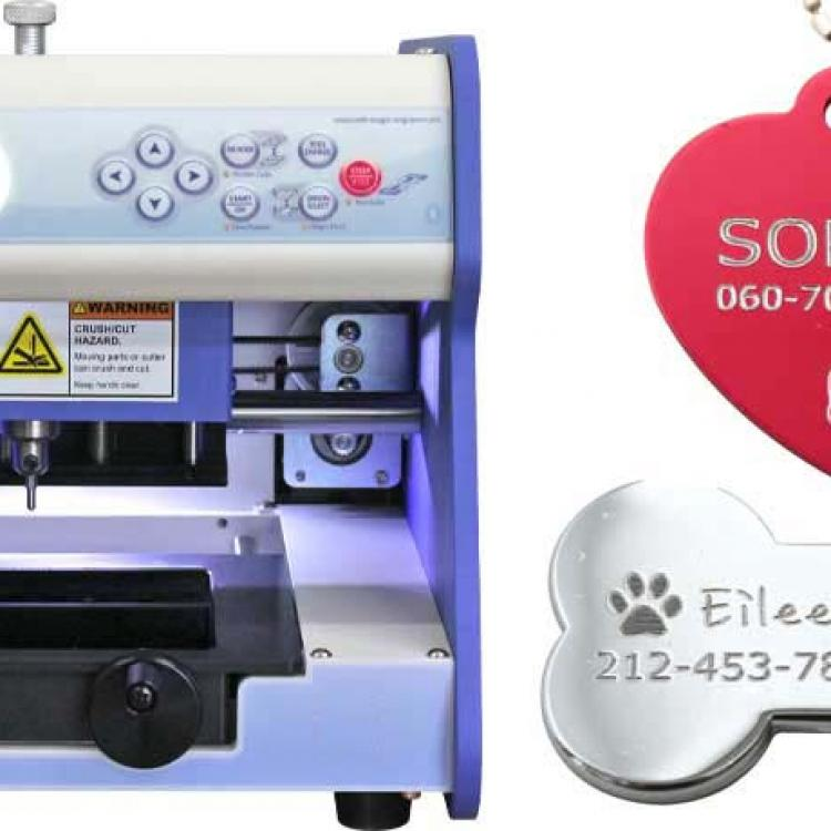 2S engraving machine for jewelry, tags, nameplates and medals